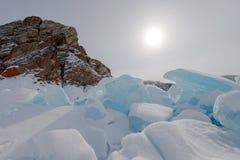 Ο πάγος της λίμνης Baikal, Ρωσία το Μάρτιο του 2018 Στοκ εικόνες με δικαίωμα ελεύθερης χρήσης
