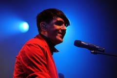 Ο Πάτρικ Wolf (τραγουδιστής από το Λονδίνο) αποδίδει σε Apolo Στοκ φωτογραφίες με δικαίωμα ελεύθερης χρήσης