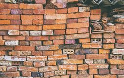 Ο πέτρινος από τα παλαιά τούβλα στοκ φωτογραφία