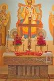 Ο πέτρινος Χριστιανός αλλάζει Στοκ Φωτογραφία
