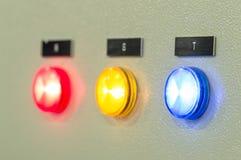 Ο πίνακας ελέγχου πυρκαγιάς, βιομηχανίες Στοκ Εικόνα