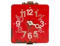 ο πίνακας ρολογιών απομόνωσε το κόκκινο αναδρομικό Στοκ εικόνες με δικαίωμα ελεύθερης χρήσης