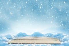 Ο πίνακας στο χιόνι Στοκ Φωτογραφίες