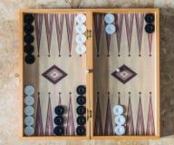 Ο πίνακας ταβλιών με χωρίζει σε τετράγωνα στοκ εικόνα