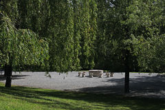Ο πίνακας της αλέας σιωπής, Constantin Brancusi, Targu Jiu, Ρουμανία στοκ φωτογραφία
