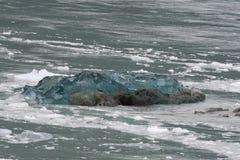 Ο παγετώνας Hubbard λειώνοντας Στοκ Φωτογραφία