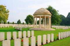 Ο παγκόσμιος πόλεμος ένα Ypres Flander Βέλγιο νεκροταφείων σπιτιών του Μπέντφορντ Στοκ Εικόνα