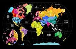 Ο παγκόσμιος χάρτης Στοκ Φωτογραφίες