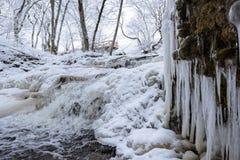 Ο παγωμένος καταρράκτης Στοκ Εικόνα