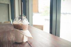 Ο παγωμένος καφές χαλαρώνει μέσα το χρόνο Στοκ φωτογραφία με δικαίωμα ελεύθερης χρήσης