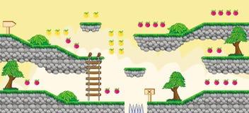 2$ο παιχνίδι 6 πλατφορμών Tileset Στοκ εικόνα με δικαίωμα ελεύθερης χρήσης