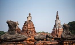 Ο παλαιός Βούδας καμία κληρονομιά κεφαλιών και βραχιόνων Στοκ Εικόνα