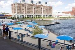 Ο παλαιός λιμένας του Μόντρεαλ - παραλία πύργων 'Ενδείξεων ώρασ' Στοκ εικόνες με δικαίωμα ελεύθερης χρήσης