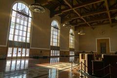 Ο παλαιός μετρητής εισιτηρίων σταθμών ένωσης, Λος Άντζελες στοκ εικόνα