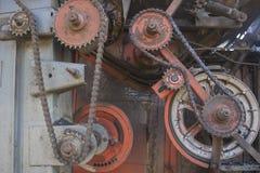 Ο παλαιός μηχανισμός με τις κινήσεις αλυσίδων 1 Στοκ Φωτογραφία
