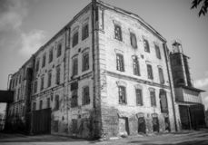 Ο παλαιός μύλος στην πόλη Petrovsky τώρα αυτό το κτήριο δεν λειτουργεί στοκ εικόνες με δικαίωμα ελεύθερης χρήσης
