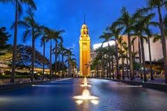 Ο παλαιός πύργος ρολογιών στο Χονγκ Κονγκ Στοκ φωτογραφίες με δικαίωμα ελεύθερης χρήσης