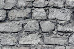 Ο παλαιός τοίχος αποτελείται από τους αερισμένους τσιμεντένιους ογκόλιθους Κινηματογράφηση σε πρώτο πλάνο Στοκ Φωτογραφίες