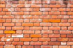 Ο παλαιός τοίχος μοναστηριών που χτίζεται της τούβλινης, σύστασης πλινθοδομής, μπορεί να χρησιμοποιηθεί για το εσωτερικό σχέδιο στοκ φωτογραφία με δικαίωμα ελεύθερης χρήσης