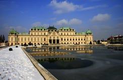 Ανώτερο παλάτι Βιέννη Αυστρία πανοραμικών πυργίσκων Στοκ εικόνα με δικαίωμα ελεύθερης χρήσης