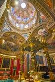 Ο παπικός βωμός της βασιλικής του ST George, Βικτώρια, Gozo, Μάλτα στοκ φωτογραφία με δικαίωμα ελεύθερης χρήσης