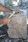 Ο παραδοσιακός τρόπος την πέτρα Στοκ φωτογραφίες με δικαίωμα ελεύθερης χρήσης