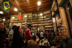 Ο παραδοσιακός φραγμός που ιδρύεται από τα πορτογαλικά είναι μέρος του πολιτισμού Carioca Στοκ Εικόνα