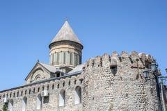 Ο πατριαρχικός καθεδρικός ναός καθεδρικών ναών όλης της Γεωργίας Svetitskhovel Στοκ Φωτογραφία