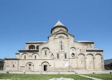 Ο πατριαρχικός καθεδρικός ναός καθεδρικών ναών όλης της Γεωργίας Svetitskhovli Στοκ Φωτογραφίες