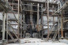 Ο παλαιός εξοπλισμός σε εγκαταστάσεις παραγωγής ενέργειας Στοκ φωτογραφία με δικαίωμα ελεύθερης χρήσης