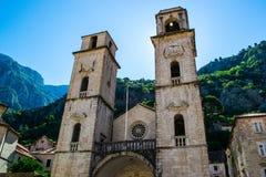 Ο παλαιός καθεδρικός ναός στο Μαυροβούνιο Στοκ Εικόνες