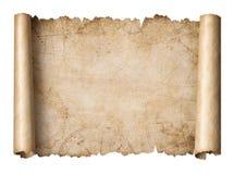 Ο παλαιός κύλινδρος χαρτών θησαυρών απομόνωσε την τρισδιάστατη απεικόνιση στοκ φωτογραφία με δικαίωμα ελεύθερης χρήσης