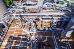 Ο παλαιός σίδηρος λειτουργεί τα μνημεία Στοκ φωτογραφία με δικαίωμα ελεύθερης χρήσης