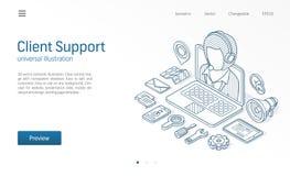 Ο πελάτης, κέντρο υποστήριξης πελατών, μας έρχεται σε επαφή με isometric απεικόνιση γραμμών Η υπηρεσία κλήσης, γραφείο βοήθειας,  απεικόνιση αποθεμάτων