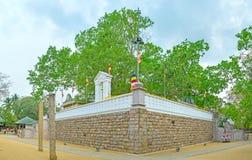 Ο περίπατος γύρω από το ναό δέντρων Bodhi Στοκ Εικόνες