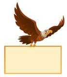 Ο πετώντας αμερικανικός αετός κρατά το κενό έμβλημα Στοκ εικόνες με δικαίωμα ελεύθερης χρήσης