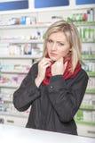 Ο πελάτης έχει γρίπη Στοκ φωτογραφία με δικαίωμα ελεύθερης χρήσης