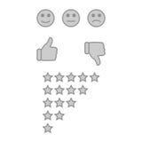 Ο πελάτης ανατροφοδοτεί ή η έννοια εμπειρίας χρηστών διανυσματική απεικόνιση