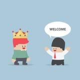 Ο πελάτης είναι βασιλιάς απεικόνιση αποθεμάτων