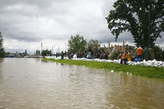 Ο πιό χειρότερα πλημμυρίζοντας στο αρχείο στα Βαλκάνια στη Σερβία Στοκ εικόνα με δικαίωμα ελεύθερης χρήσης