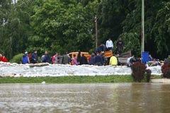 Ο πιό χειρότερα πλημμυρίζοντας στο αρχείο στα Βαλκάνια στη Σερβία Στοκ φωτογραφίες με δικαίωμα ελεύθερης χρήσης