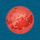 Ο πλανήτης Άρης, εξερεύνηση του διαστήματος, επιστήμη και αστρονομία Στοκ Εικόνες