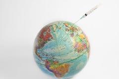 ο πλανήτης εμβολιάζει Στοκ Εικόνα