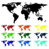 Ο πλανήτης μας από τις διαφορετικές απόψεις Φιλική έννοια Eco ελεύθερη απεικόνιση δικαιώματος