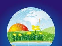 ο πλανήτης προστατεύει διανυσματική απεικόνιση