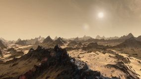 Ο πλανήτης χαλά το ηλιοβασίλεμα timelapse διανυσματική απεικόνιση