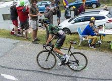 Ο ποδηλάτης Ρομάν Sicard - περιοδεύστε το de Γαλλία το 2015 Στοκ εικόνα με δικαίωμα ελεύθερης χρήσης