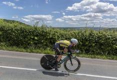 Ο ποδηλάτης Antwan Tolhoek - Criterium du Dauphine 2017 Στοκ Φωτογραφίες