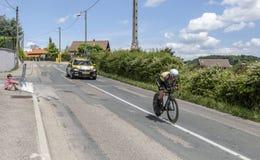 Ο ποδηλάτης Antwan Tolhoek - Criterium du Dauphine 2017 Στοκ φωτογραφία με δικαίωμα ελεύθερης χρήσης