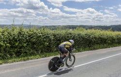Ο ποδηλάτης Antwan Tolhoek - Criterium du Dauphine 2017 Στοκ εικόνα με δικαίωμα ελεύθερης χρήσης